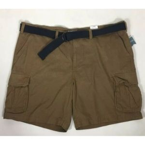 Sonoma Men's B&T Belted Twill Classic Cargo Shorts